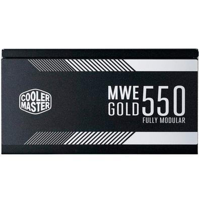 Fonte Cooler Master MWE 550W, 80 Plus Gold, Modular - MPY-5501-AFAAG