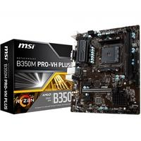 Placa-Mãe MSI B350M Pro-VH Plus, AMD AM4, mATX, DDR4