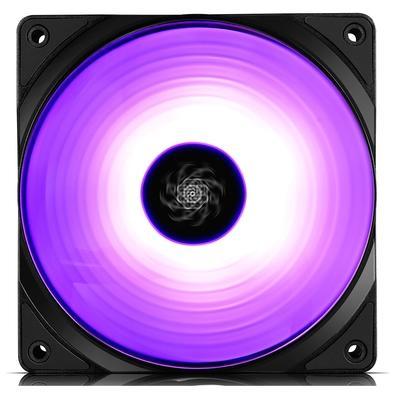 Kit Cooler DeepCool CF 120 com 3 Unidades, RGB, 12cm - DP-FA-RGB-CF120-3