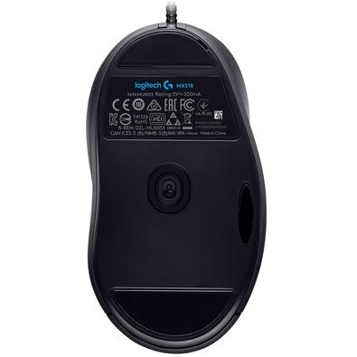 Mouse Gamer Logitech MX518 Hero 16k, 8 Botões, 16000 DPI