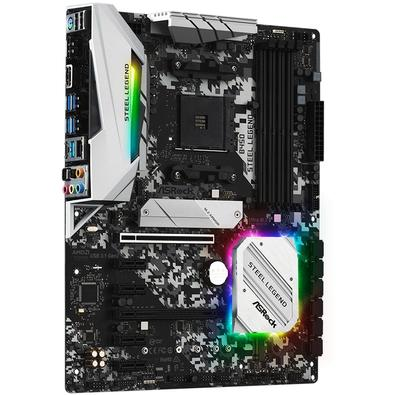 Placa-Mãe ASRock B450 Steel Legend, AMD AM4, ATX, DDR4 - 90-MXBA00-A0UAYZ