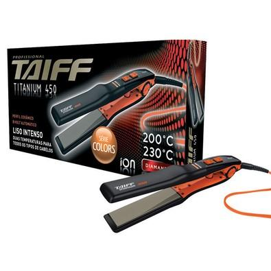 Prancha Alisadora Taiff Titanium 450 Action Profissional, Modela, 230C, Bivolt - 100086