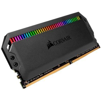 Memória Corsair Dominator, RGB, 16GB (2x8GB), 3200MHz, DDR4, CL16, Preto - CMT16GX4M2C3200C16