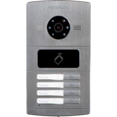 Sistema de Interfone IP Hikvision Câmera 1.3MP, 720p, 4 Teclas - DS-KV8402-IM