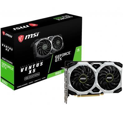 Placa de Vídeo MSI NVIDIA GeForce GTX 1660 Ventus XS 6G OC, GDDR5