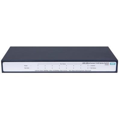 Switch HPE Aruba OfficeConnect 1420, 8 Portas Giga PoE+ 64W 10/100/1000Base-TX - JH330A