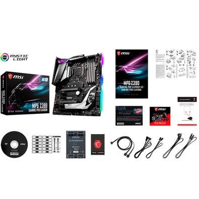 Placa-Mãe MSI MPG Z390 Gaming Pro Carbon, Intel LGA 1151, ATX, DDR4