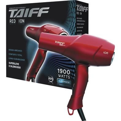 Secador Taiff Red Íon 1900W, Vermelho, 220V - 158