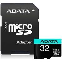 Cartão de Memória Adata MicroSDHC 32 GB Classe 10 V30 com Adaptador - AUSDH32GUI3V30SA2-RA1