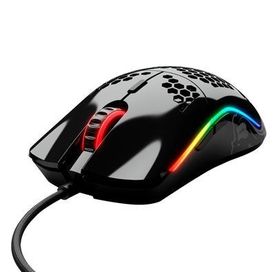 Mouse Gamer Glorious Model O, RGB, 6 Botões, 12000DPI, Preto Glossy - GO-GBLACK