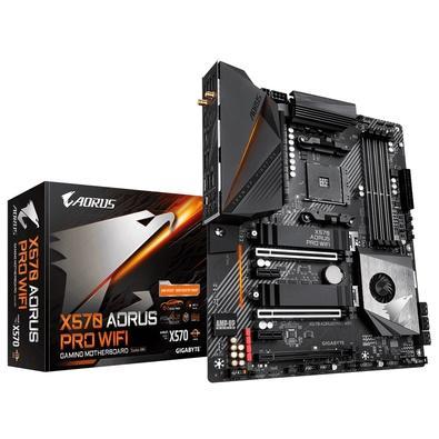 Placa-mãe Gigabyte Aorus X570 Aorus Pro WiFi, AMD AM4, ATX, DDR4, Rev 1.0
