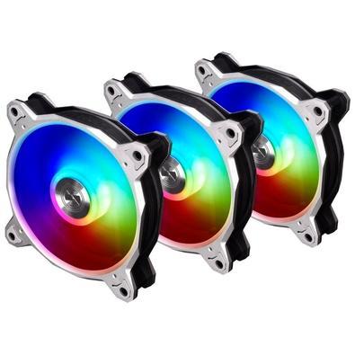 Kit Cooler Fan 3 unidades Lian Li Bora Digital, 120mm, RGB, Silver