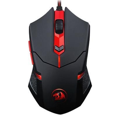 Mouse Gamer Redragon Centrophorus, 3200DPI, 6 botões, 8 Ajustes de Peso - M601-3