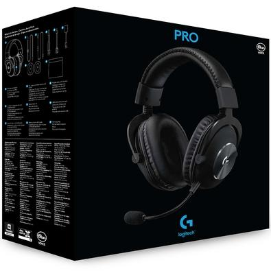 Headset Gamer Logitech G PRO X, Com Blue Voice, Som Surround 7.1, Drivers Pro-G de 50mm