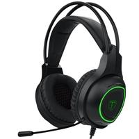 Headset Gamer T-Dagger Atlas, Drivers 40mm, Preto e Verde - T-RGH201
