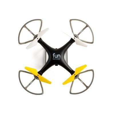 Drone Multilaser Fun, sem Câmera, Alcance Máx 50m, com Controle Remoto, Preto/Amarelo - ES253