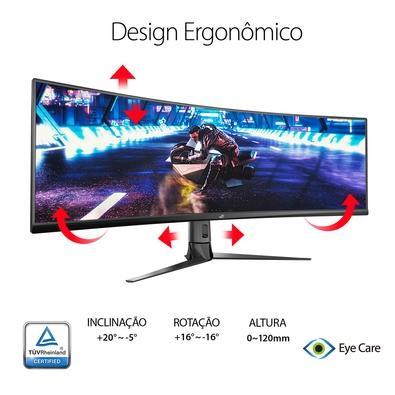Monitor Gamer Asus 49´ Super Ultrawide Curvo, HDMI/Display Port, FreeSync 2 HDR, 144 Hz - XG49VQ