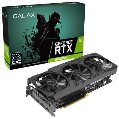 Placa de Vídeo Galax NVIDIA GeForce RTX 2070 Super EX Gamer Black Edition 8GB, GDDR6 - 27ISL6MDW0BG