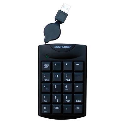 Teclado Numérico Multilaser Retrátil, USB - TC230