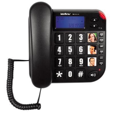 Telefone Intelbras com Fio Tok Fácil, Identificador de Chamadas - 4000073