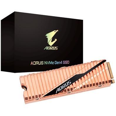 SSD Aorus Gen4 2TB, M.2 NVMe, Leituras: 5000MB/s e Gravações: 4400MB/s - GP-ASM2NE6200TTTD