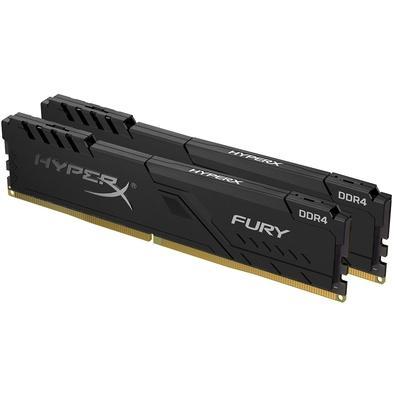 Memória HyperX Fury, 16GB (2x8GB), 2400MHz, DDR4, CL15, Preto - HX424C15FB3K2/16