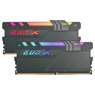 Memória Geil EVO X II, RGB, 16GB (2x8GB), 3200MHz, DDR4, CL16 - GAEXSY416GB3200C16ADC