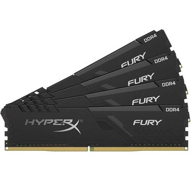 Memória HyperX Fury, 32GB (4x8GB), 3000MHz, DDR4, CL15, Preto - HX430C15FB3K4/32