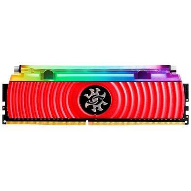 Memória XPG Spectrix D80 RGB 16GB, 3200Mhz, DDR4, CL16, Vermelho - AX4U3200316G16-SR80