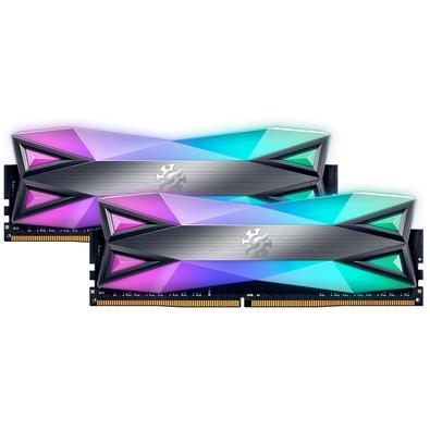 Memória XPG Spectrix D60G RGB 16GB (2x8GB), 3200MHz, DDR4, CL16, Cinza - AX4U320038G16-DT60