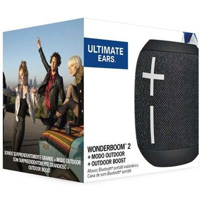 Caixa de Som Bluetooth Ultimate Ears WONDERBOOM 2 Portátil e À Prova D´Água - Até 13 horas de Bateria - Preta - 984-001554