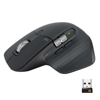 Mouse Logitech MX Master 3 Sem Fio Recarregável Tecnologia Flow Unifying 4000DPI - 910-005647