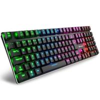 Teclado Mecânico Gamer Sharkoon PureWriter RGB, Switch Kailh Red, ABNT2