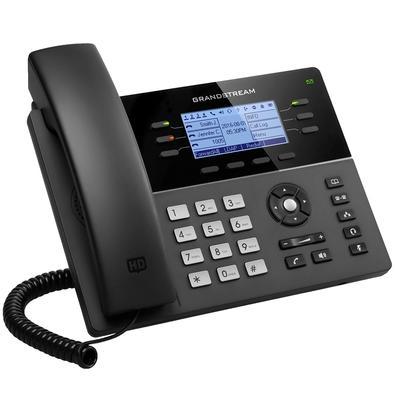 Telefone IP Grandstream, 3 Contas SIP, 6 Linhas, Preto - GXP1760