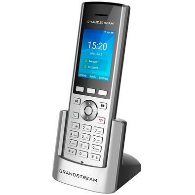 Telefone IP sem Fio Grandstream, 2 Contas SIP, 2 Linhas, Prata - WP820
