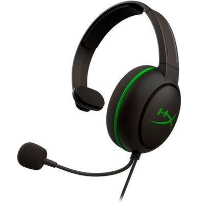Headset Gamer HyperX CloudX Chat, Drivers 40mm, Xbox One e Xbox Série X e S, P3, Preto e Verde - HX-HSCCHX-BK/WW