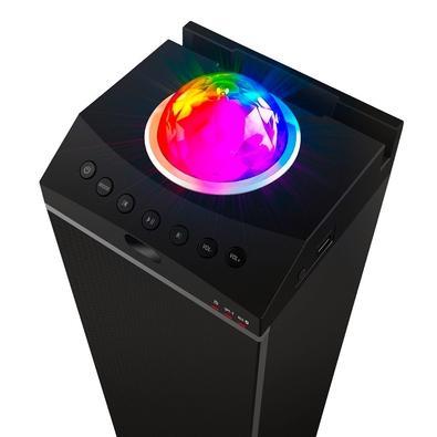 Caixa de Som Portátil Amplificada Hot Sat TRX-1, LED, Bluetooth, 50W RMS - TRX-1