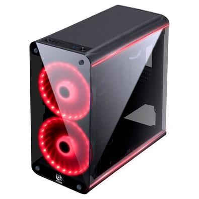 Gabinete Gamer PCYes Solaris, Mid Tower, RGB, com FAN, Laterais e Frontal em Vidro - SOLPTRGB2FV