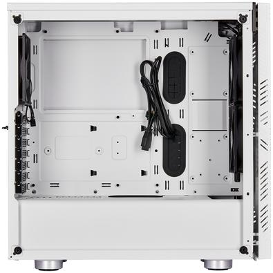Gabinete Gamer Corsair 275R Airflow, Mid Tower, com FAN, Lateral em Vidro, Branco - CC-9011182-WW