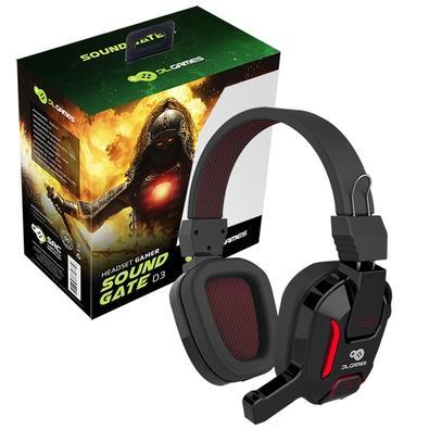 Headset Gamer DL Games SoundGate D3, LED Vermelho, Drivers 40mm - FG251PRE
