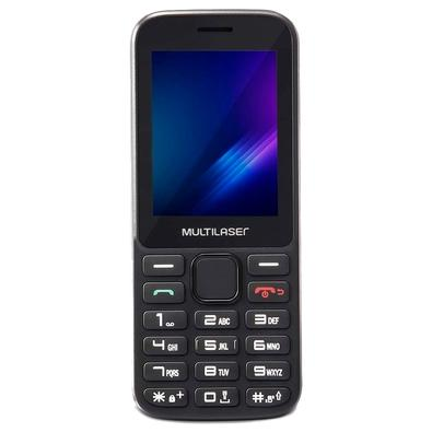 Celular Multilaser Zapp, Tela 2.4´, 32GB, Bluetooth, Preto - P9098