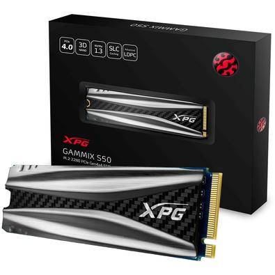 SSD XPG Gammix S50, 2TB, M.2, PCIe, Leituras: 5000Mb/s e Gravações 4400Mb/s - AGAMMIXS50-2TT-C