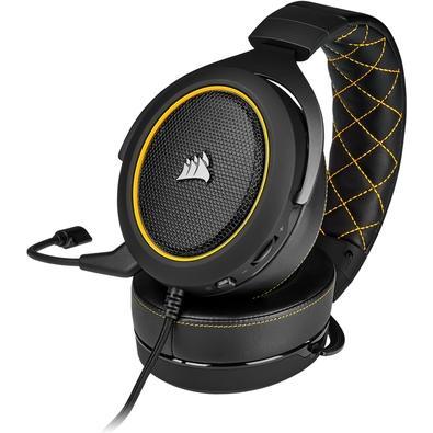 Headset Gamer Corsair HS60 Pro, 7.1 Som Surround, Drivers 50mm, Preto/Amarelo - CA-9011214-NA