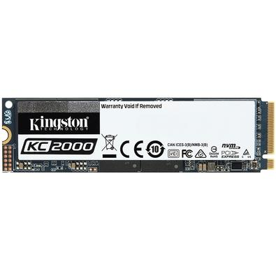 SSD Kingston KC2000, 2000GB, M.2 NVMe, Leitura 3200MB/s, Gravação 2200MB/s - SKC2000M8/2000G
