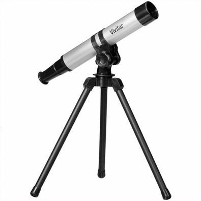 Telescópio Portátil Vivitar, Ampliação 15x, Objetiva 30mm, com Tripé - VIVTEL30300