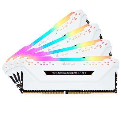 Memória Corsair Vengeance RGB Pro, 32GB (4x8GB), 3600MHz, DDR4, CL18, Branco - CMW32GX4M4C3600C18W