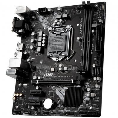 Placa-Mãe MSI H310M Pro-VDH Plus p/ Intel LGA 1151, m-ATX, DDR4