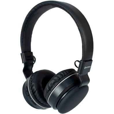 Headphone Bluetooth Hoopson F-048S, com Microfone, Preto e Prata - F-048S