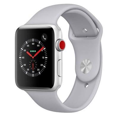Apple Watch Series 3 Cellular + GPS, 42mm, Alumínio Prata, Pulseira Nevoa - MTH12BZ/A