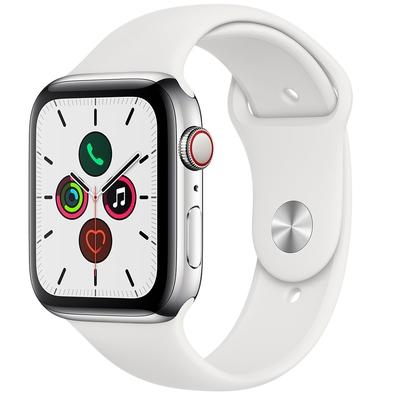 Apple Watch Series 5, GPS + Cellular, 44mm, Pulseira Branca - MWWF2BZ/A